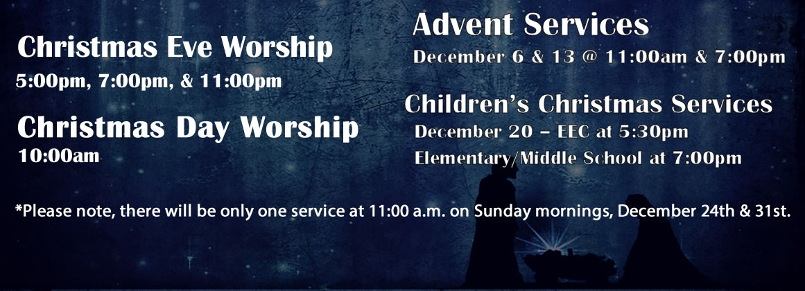 Christmas 2017 Services
